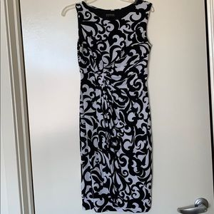 Black and white paisley work dress